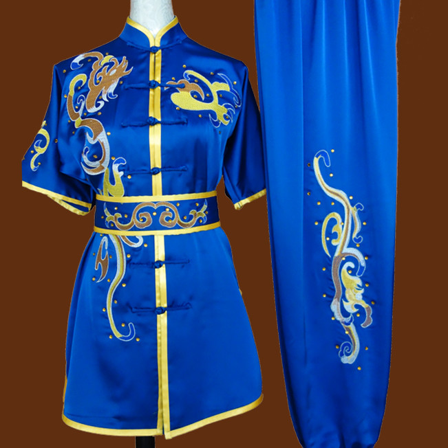 Top Wing Chun Kung Fu Wooden Dummy Practice Uniform