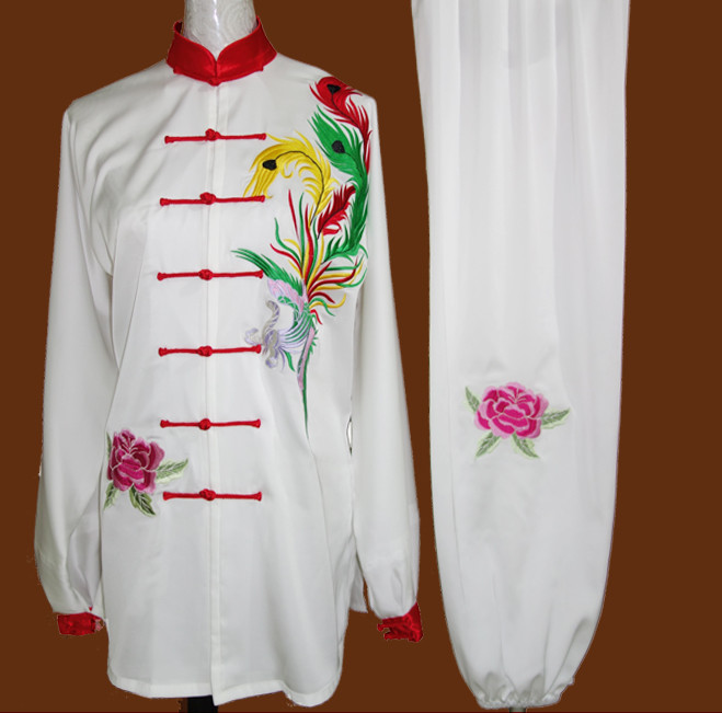 Phoenix Embroidery Wing Chun Kung Fu Wooden Dummy Practice Suits