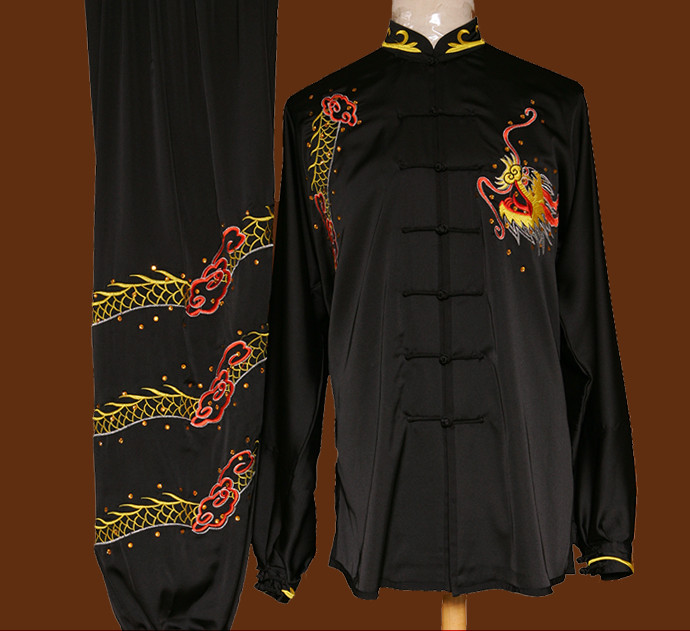 Tradtiional Martial Arts Dragon Embroidery Championshiop Suit