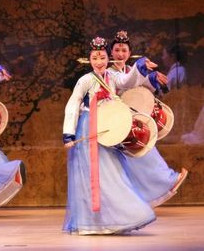Korean Palace Hanbok Drum Dance Costumes Carnival Costumes Traditional Costumes for Women