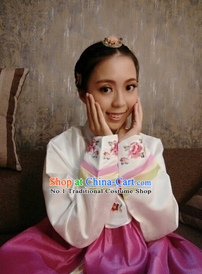 Asian Korean Fashion Hanbok Dresses for Girls