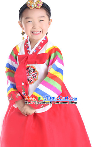 Traditional Korean Clothing Custom Made Girls Hanbok for Traditional Ceremony Dance Costumes