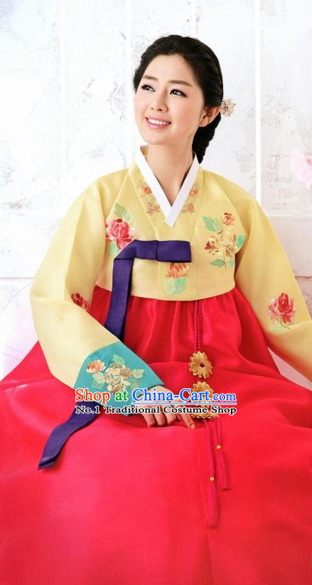 Korean Custom Made Female Hanbok for Wedding Party Ceremony Halloween