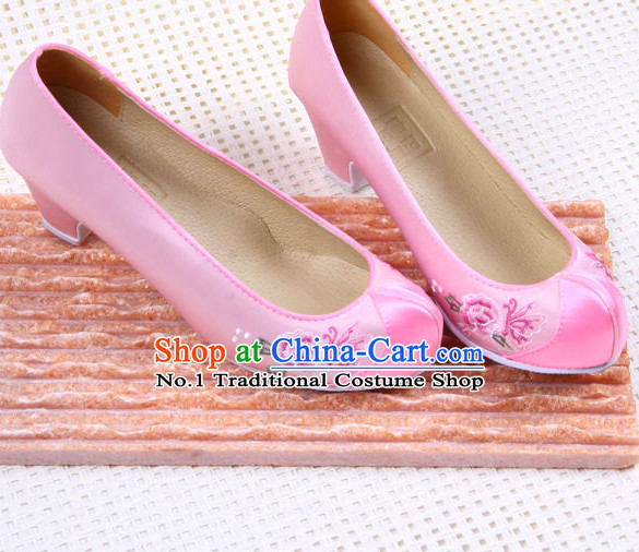 Traditional Korean Pink Wedding online Shoes for Women