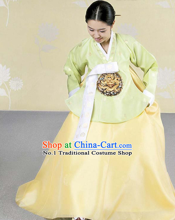 Top Korean Dangui Royal Hanbok Dancing Costumes Girls Dancewear