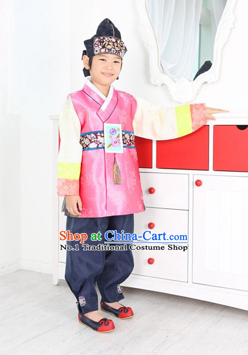 Top Traditional Korean Birthday Kids Fashion Kids Apparel Birthday Suit for Boys