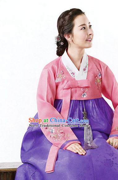 Korean Traditional Hanbok Clothing Dress online Womens Clothes Designer Clothes