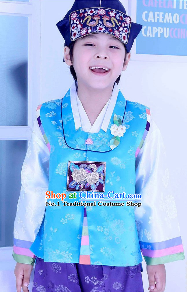 Korean Traditional Hanbok Clothing Dresses Complete Set for Child