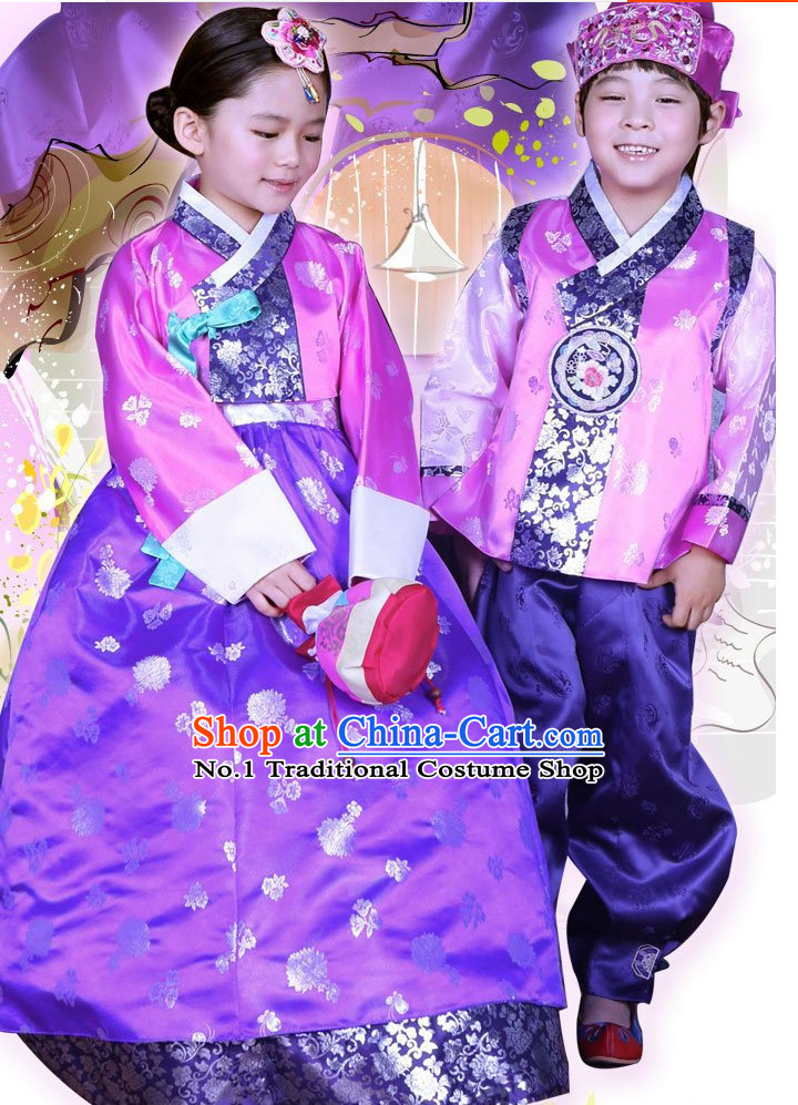 Korean Traditional Hanbok Clothing Dresses Kids Fashion Korean Childrens Clothes 2 Sets