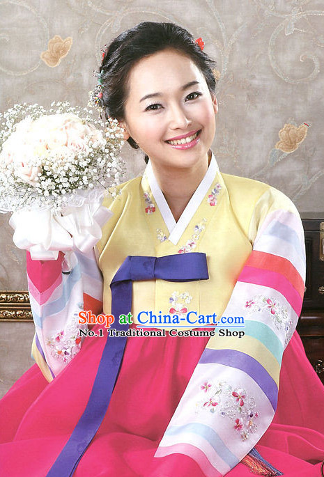 Korean Traditional Hanbok Clothing Dresses Womens Fashion Korean Female Clothes