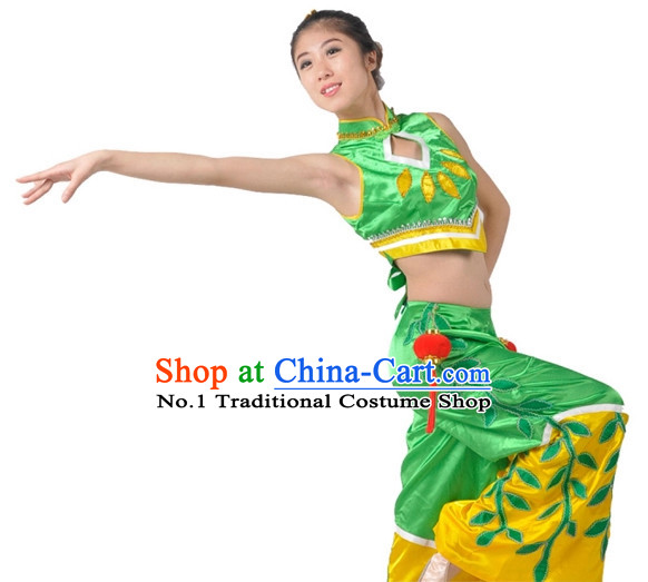 Asian Fashion Chinese Green Leaf Dance Costumes China Shop for Women