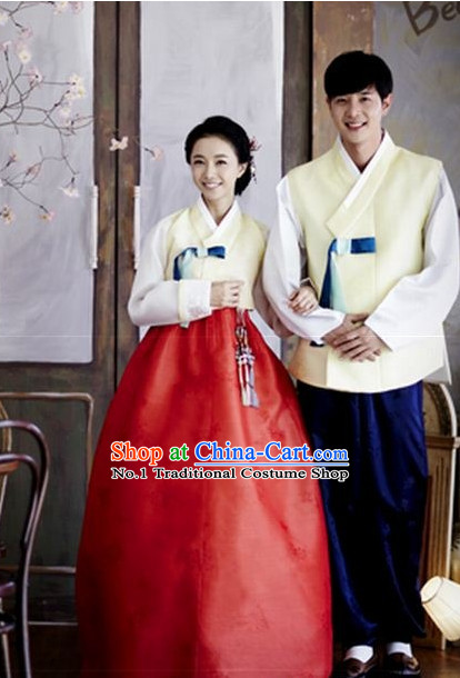 Korean Couple Formal Dresses Hanbok Costumes Hanboks Complete Set