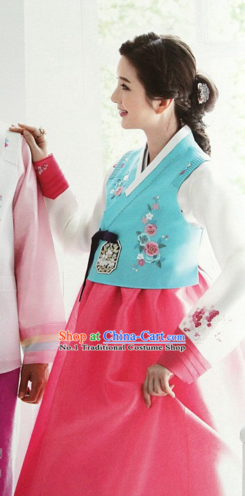 Korean Formal Costumes Hanboks Complete Set