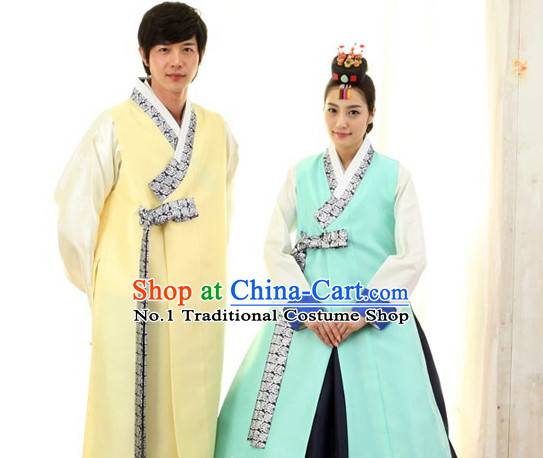Korean Traditional Bridal Wedding Dress Complete Set for Brides and Bridegrooms