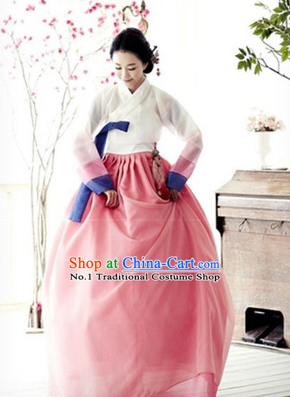 Korean Women Fashion Traditional Hanbok Costumes Complete Set