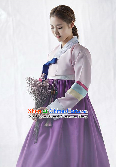 Korean Women Fashion Traditional Hanbok Wedding Dress Complete Set