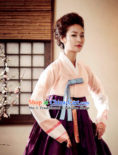 Korean Women Fashion Traditional Hanbok Stage Performance Costumes Complete Set