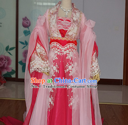 Asian Fashion Chinese Royal Princess Hanfu Halloween Costumes for Women