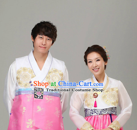Korean Traditional Hanbok Formal Dresses Special Occasion Dresses for Husband and Wife