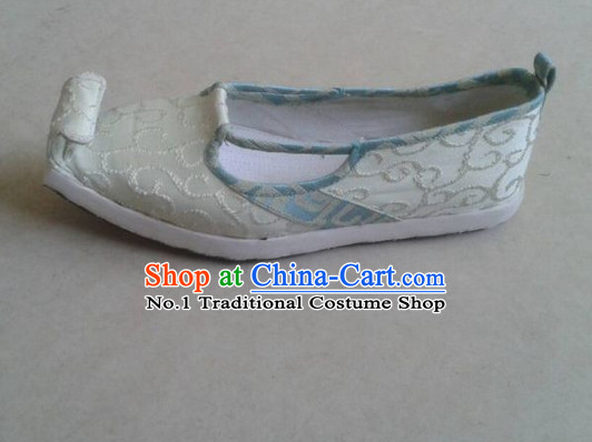 Handmade Chinese Traditional Hanfu Fabric Shoes Footwear