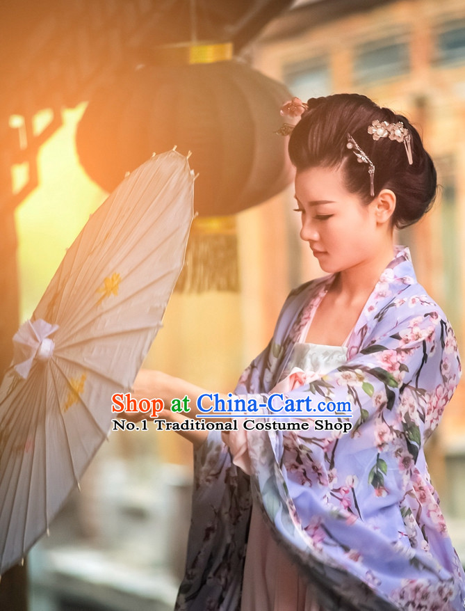 Asian Fashion Oriental Dresses Chinese Hanfu Plus Size Classy Garments Complete Set