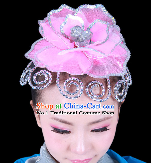 Chinese Classical Group Dance Dance Big Flower Headwear