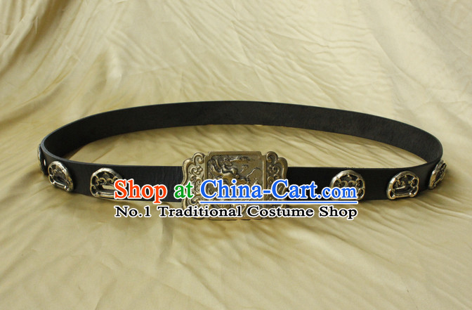 Handmade Chinese Ancient Long Black Feather Belt