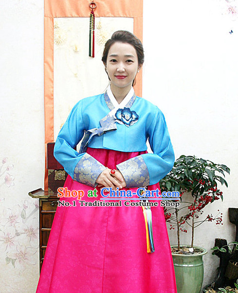 Traditional Korean Custom Made Special Day Customized Hanbok Eveing Dress Complete Set for Women
