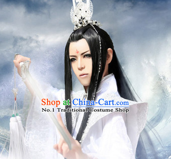 Asia Fashion Ancient China Culture Chinese Wide Sleeves Prince Kimono Dresses and Coronet