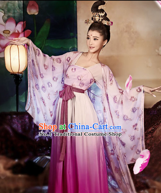 Asian Fashion Chinese Palace Lady Costumes and Hair Accessories Complete Set