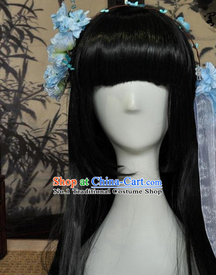 Chinese Classical Princess Wig and Hair Accessories Complete Set