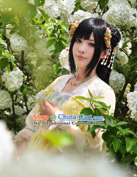 Chinese Fairy Adult Halloween Costumes and Hair Jewelry Complete Set