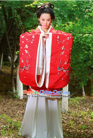 Chinese Traditional Lucky Red Wedding Bridal Dresses and Hair Jewelry Complete Set