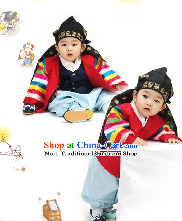 Korean Birthady Dresses Hanbok Clothing for Boys