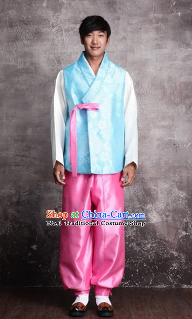 Traditional Korean Bridegrooms National Costumes Complete Set