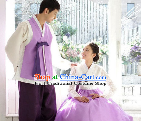 Korean Couple National Costumes Traditional Costumes Hanbok Korea