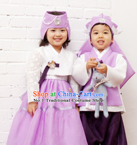 Korean Brother and Sister National Costumes Traditional Costumes Hanbok Korea Dress online Shopping