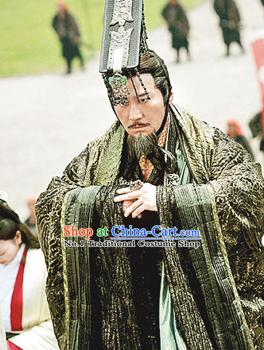Chinese Ancient Emperor Liu Bang Costumes Complete Set
