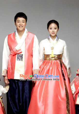 Korean Traditional Couple Clothing 2 Sets