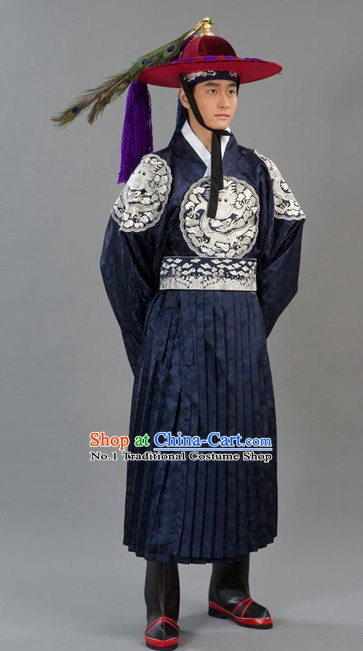 Traditional Korean Imperial Palace Guard Costumes for Men