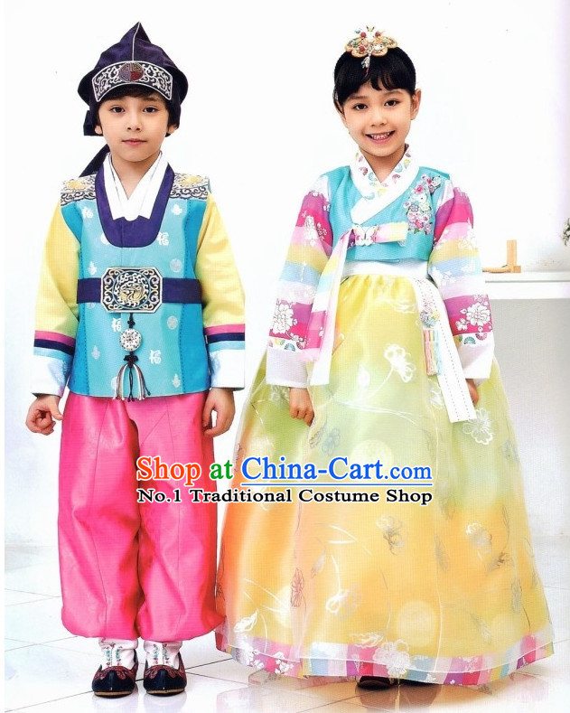 Korean Girls and Boys Fashion online Apparel Hanbok Costumes Clothes