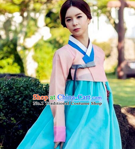 Korean Woman Traditional Clothes Hanbok Dress Shopping