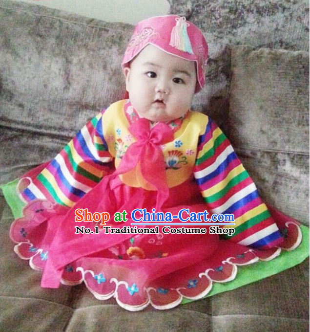 Korean Infant Birthday Traditional Clothes Hanbok Dress online Shopping Free Delivery Worldwide