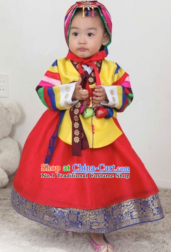 Korean Traditional Hanbok Clothes online Shopping for Birthday Infants