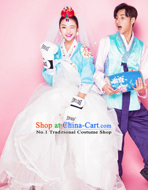 Korean Traditional National Costumes Photo Shoot Costumes 2 Sets