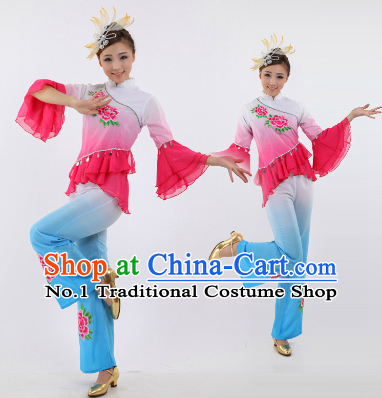 Chinese Stage Fans Costumes Dance Stores Dance Gear Dance Attire and Hair Accessories