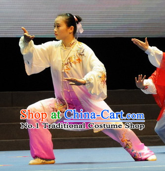Top Tai Chi Yoga Clothing Yoga Wear Yang Tai Chi Quan Kung Fu Contest Uniforms and Mantle Complete Set for Women