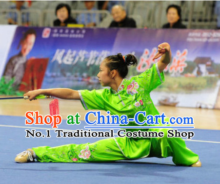 Top Competition Martial Arts Uniforms Martial Arts Supplies Kung Fu Swords Sword Championship Uniform for Women