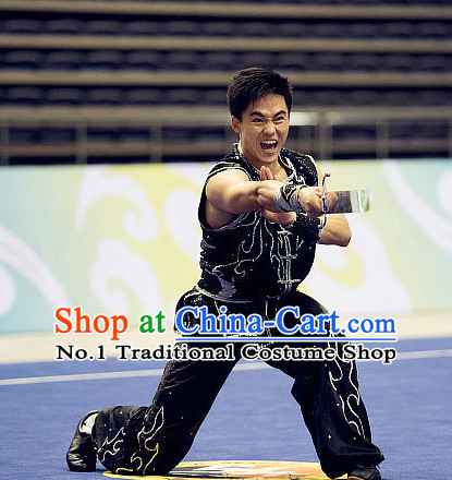 Top Martial Arts Uniforms Supplies Kung Fu Southern Sword Competition Uniforms for Men