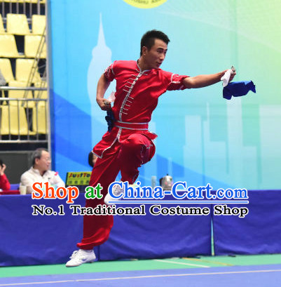 Top Chinese Kungfu Kung Fu Costume Kung Fu Combat Costumes Wing Chun Karate Uniform Kung Fu Competition Suit Martial Arts Costumes for Men